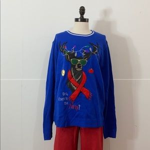 Graphic Deer Christmas Sweater